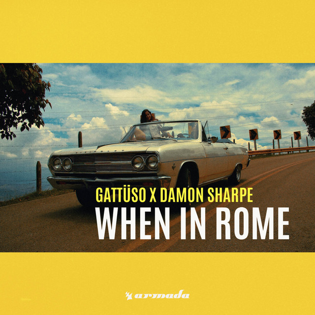 The album cover for When In Rome by Damon Sharpe & GATTÜSO