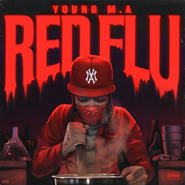 The album cover for Red Flu by Young M.A