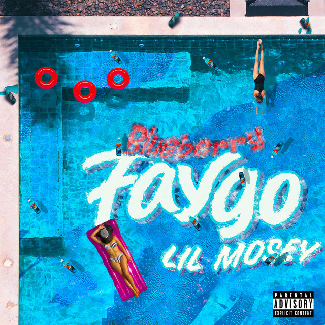 The album cover for Blueberry Faygo by Lil Mosey
