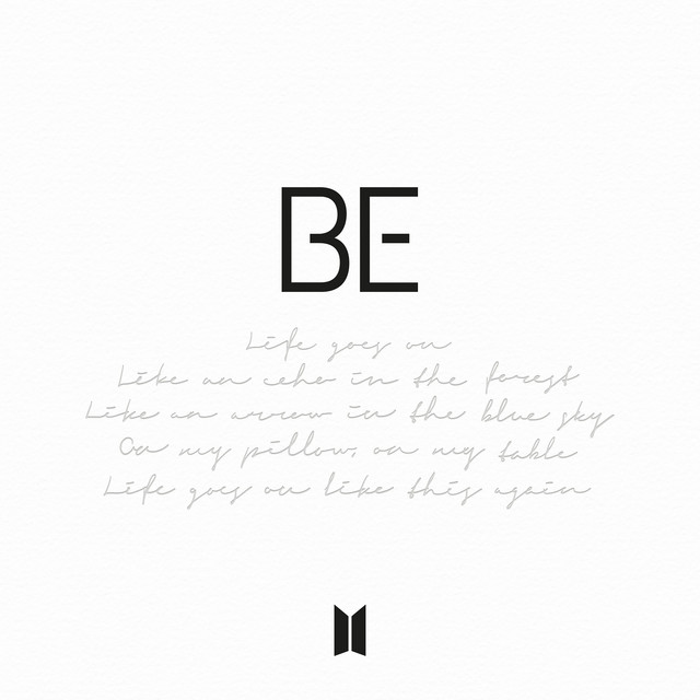 The album cover for BE by BTS