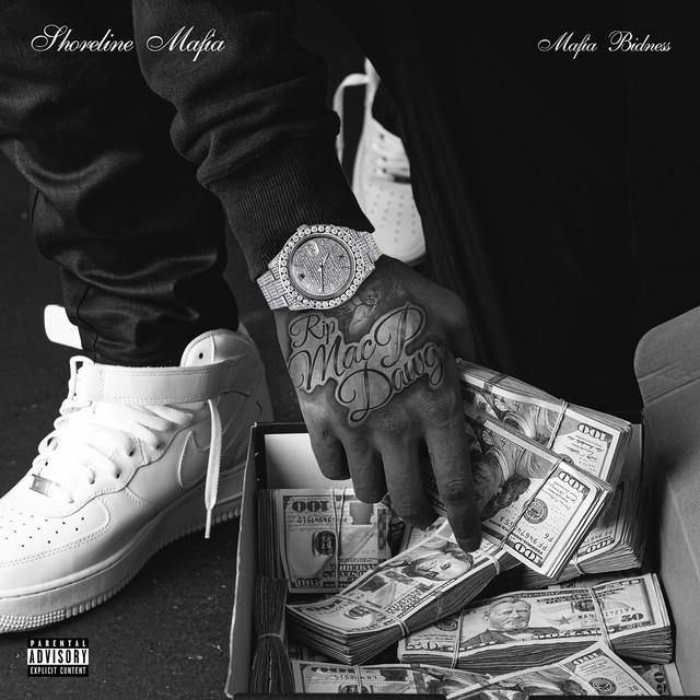 The album cover for Mafia Bidness by Shoreline Mafia