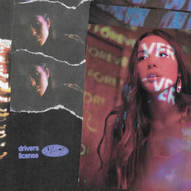 The album cover for drivers license by Olivia Rodrigo