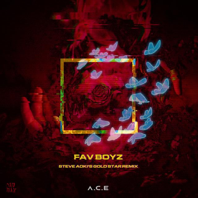 The album cover for Fav Boyz (Steve Aoki's Gold Star Remix) by Steve Aoki, Thutmose & A.C.E