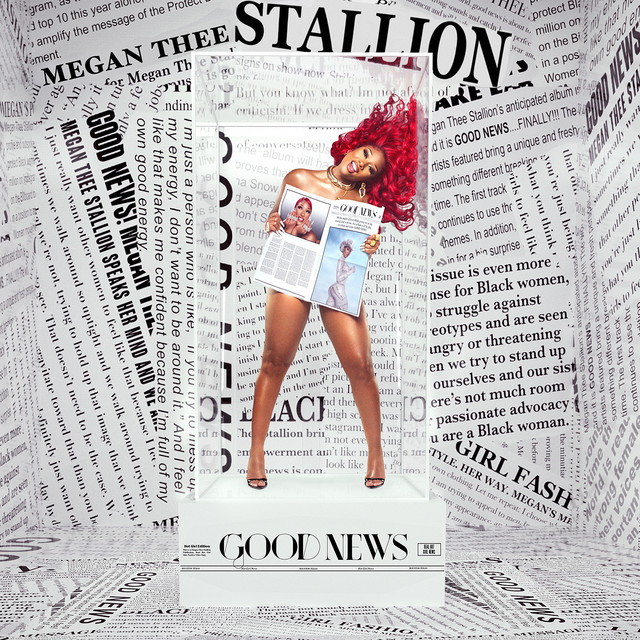 The album cover for Good News by Megan Thee Stallion