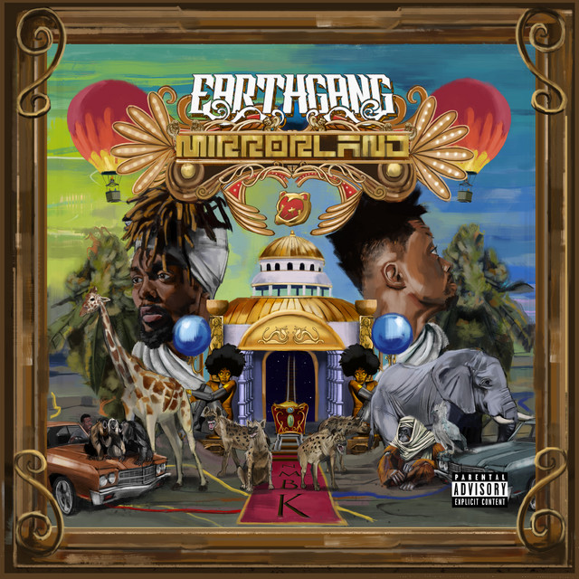 The album cover for Mirrorland by EARTHGANG